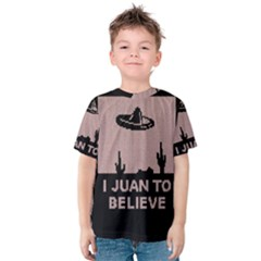 I Juan To Believe Ugly Holiday Christmas Black Background Kids  Cotton Tee