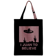 I Juan To Believe Ugly Holiday Christmas Black Background Zipper Classic Tote Bag