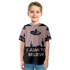 I Juan To Believe Ugly Holiday Christmas Black Background Kids  Sport Mesh Tee