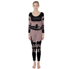 I Juan To Believe Ugly Holiday Christmas Black Background Long Sleeve Catsuit