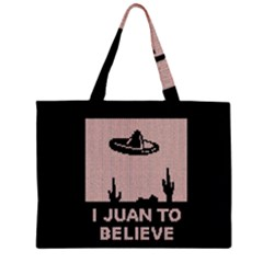 I Juan To Believe Ugly Holiday Christmas Black Background Large Tote Bag