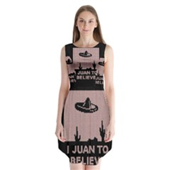 I Juan To Believe Ugly Holiday Christmas Black Background Sleeveless Chiffon Dress