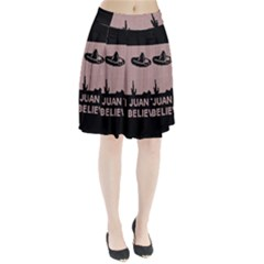I Juan To Believe Ugly Holiday Christmas Black Background Pleated Skirt