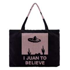 I Juan To Believe Ugly Holiday Christmas Black Background Medium Tote Bag