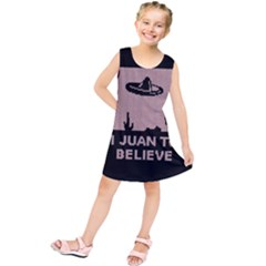 I Juan To Believe Ugly Holiday Christmas Black Background Kids  Tunic Dress