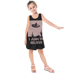 I Juan To Believe Ugly Holiday Christmas Black Background Kids  Sleeveless Dress