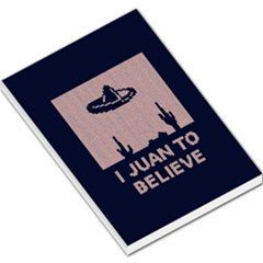 I Juan To Believe Ugly Holiday Christmas Blue Background Large Memo Pads