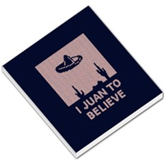 I Juan To Believe Ugly Holiday Christmas Blue Background Small Memo Pads