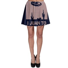 I Juan To Believe Ugly Holiday Christmas Blue Background Skater Skirt