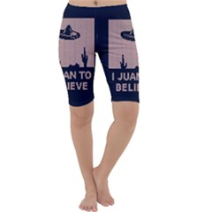 I Juan To Believe Ugly Holiday Christmas Blue Background Cropped Leggings