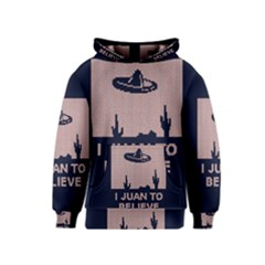 I Juan To Believe Ugly Holiday Christmas Blue Background Kids  Pullover Hoodie