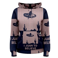 I Juan To Believe Ugly Holiday Christmas Blue Background Women s Pullover Hoodie