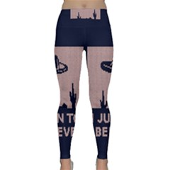 I Juan To Believe Ugly Holiday Christmas Blue Background Classic Yoga Leggings