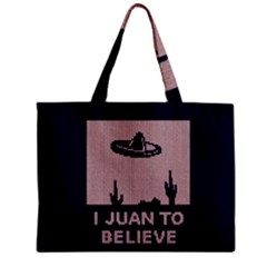 I Juan To Believe Ugly Holiday Christmas Blue Background Zipper Mini Tote Bag