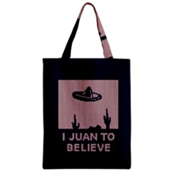I Juan To Believe Ugly Holiday Christmas Blue Background Zipper Classic Tote Bag