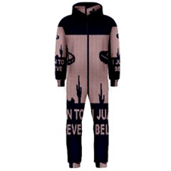 I Juan To Believe Ugly Holiday Christmas Blue Background Hooded Jumpsuit (Men)