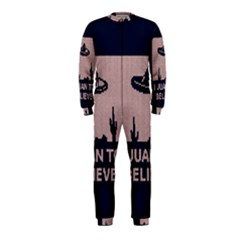 I Juan To Believe Ugly Holiday Christmas Blue Background OnePiece Jumpsuit (Kids)