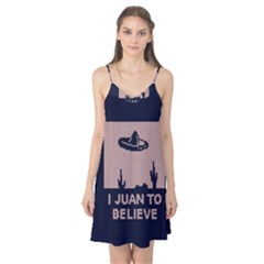 I Juan To Believe Ugly Holiday Christmas Blue Background Camis Nightgown