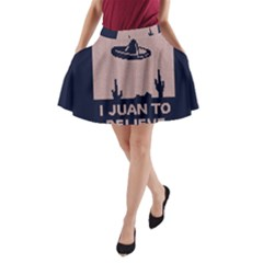 I Juan To Believe Ugly Holiday Christmas Blue Background A-Line Pocket Skirt