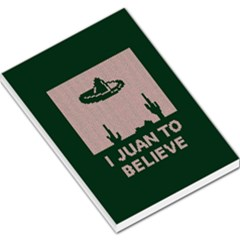 I Juan To Believe Ugly Holiday Christmas Green Background Large Memo Pads