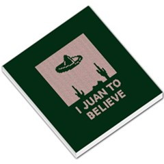 I Juan To Believe Ugly Holiday Christmas Green background Small Memo Pads