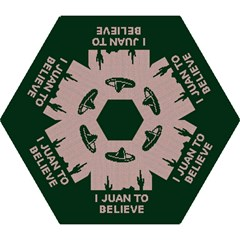 I Juan To Believe Ugly Holiday Christmas Green background Mini Folding Umbrellas