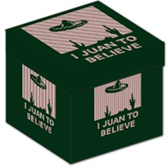 I Juan To Believe Ugly Holiday Christmas Green background Storage Stool 12