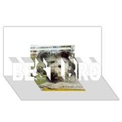 Pumi BEST BRO 3D Greeting Card (8x4)