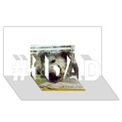 Pumi #1 DAD 3D Greeting Card (8x4)