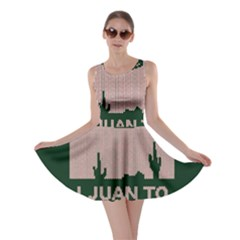 I Juan To Believe Ugly Holiday Christmas Green background Skater Dress