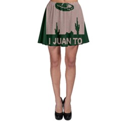I Juan To Believe Ugly Holiday Christmas Green Background Skater Skirt