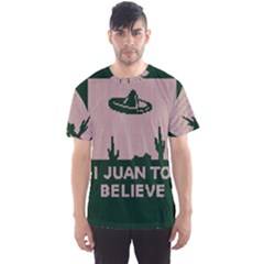 I Juan To Believe Ugly Holiday Christmas Green background Men s Sport Mesh Tee