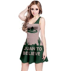 I Juan To Believe Ugly Holiday Christmas Green background Reversible Sleeveless Dress