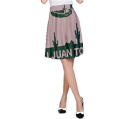 I Juan To Believe Ugly Holiday Christmas Green background A-Line Skirt