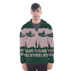 I Juan To Believe Ugly Holiday Christmas Green background Hooded Wind Breaker (Men)