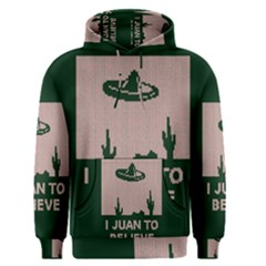 I Juan To Believe Ugly Holiday Christmas Green background Men s Pullover Hoodie
