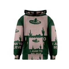I Juan To Believe Ugly Holiday Christmas Green background Kids  Pullover Hoodie