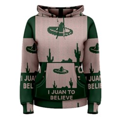 I Juan To Believe Ugly Holiday Christmas Green background Women s Pullover Hoodie
