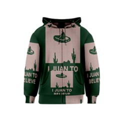 I Juan To Believe Ugly Holiday Christmas Green background Kids  Zipper Hoodie