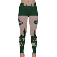 I Juan To Believe Ugly Holiday Christmas Green background Classic Yoga Leggings