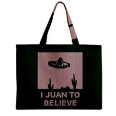 I Juan To Believe Ugly Holiday Christmas Green background Zipper Mini Tote Bag