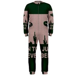 I Juan To Believe Ugly Holiday Christmas Green background OnePiece Jumpsuit (Men)