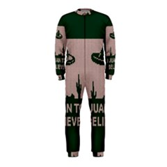 I Juan To Believe Ugly Holiday Christmas Green background OnePiece Jumpsuit (Kids)