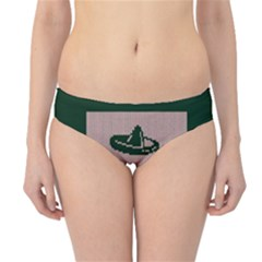 I Juan To Believe Ugly Holiday Christmas Green background Hipster Bikini Bottoms