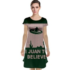 I Juan To Believe Ugly Holiday Christmas Green background Cap Sleeve Nightdress
