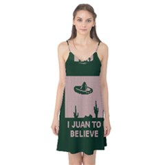 I Juan To Believe Ugly Holiday Christmas Green background Camis Nightgown