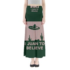 I Juan To Believe Ugly Holiday Christmas Green background Maxi Skirts