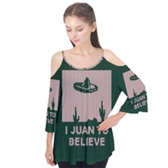 I Juan To Believe Ugly Holiday Christmas Green Background Flutter Tees