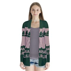 I Juan To Believe Ugly Holiday Christmas Green Background Drape Collar Cardigan
