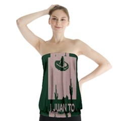 I Juan To Believe Ugly Holiday Christmas Green Background Strapless Top